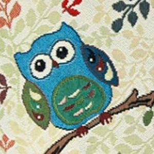Accents - NEW TAPESTRY OWL DECOR THROW PILLOW CASE COVER